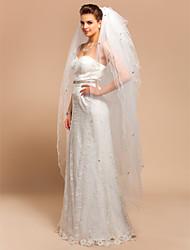 Ten-tier véu do casamento Valsa com borda scalloped