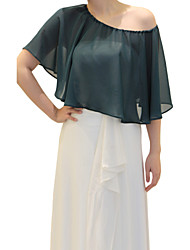 Capelets Sleeveless Chiffon As Picture Shown Wedding / Party/Evening Open Front