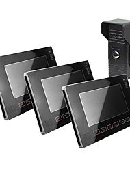 "9 ""Video Door Phones, mit SD-Karte Picture Record, unter Foto (1 Kamera Um 3 Monitor)"