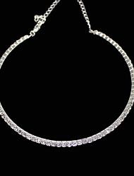 Sottile fila singola High-Grade cristallo Collana