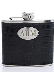 Personalized 5-oz Flask With Black Cover
