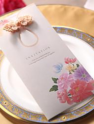 """Não personalizado Embrulhado e de Bolso Convites de casamento Cartões de convite-50 Peça/Conjunto Papel Pérola 8 ½""""×4"""" (20.8*10.3cm)"""