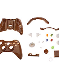 Replacement Controller Case Shell for XBOX 360 (Wooden Color)