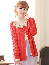 MLINA Lace Embroidery Cut Out Crochet Sweater Cardigan