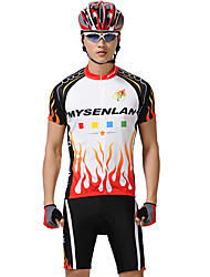 Mysenlan Men's Short Sleeve Bike Clothing Suits Quick Dry Waterproof Zipper Front Zipper Wearable Breathable Polyester Spring Summer