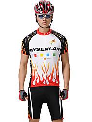 MYSENLAN Vélo/Cyclisme Ensemble de Vêtements/Tenus Homme Manches courtesRespirable / Séchage rapide / Zip étanche / Zip frontal /
