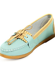 Leather Flat Heel Loafers & Slip-ons Honeymoon Shoes (More Colors)