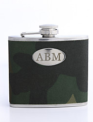 Período de presente personalizado 5 oz PU Leather Capital Letters Flask