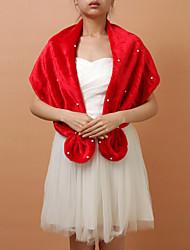 Fashion Faux Fur Abendgesellschaft / Hochzeit Schal / Wraps mit Perlen (mehr Farben)