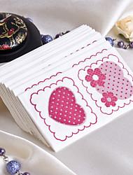Rosa Romantik Gast Handtücher (Set von 12 Packs)