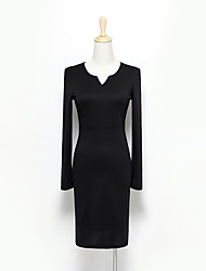 Alan Elegant V Neck Long Sleeve Dress