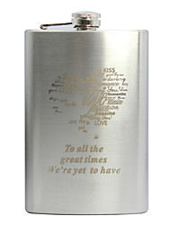 Gift Groomsman Personalized Heart Design Stainless Steel 9-oz Flask