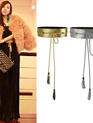 Mujeres Bow moda borla cinturón