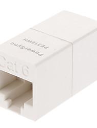 powersync PE-316wh cat.6 rj45 8p8c женщин и женщин адаптер для сетевой кабель (белый)