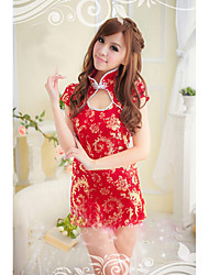 Women Uniforms & Cheongsams Nightwear Jacquard Lace Others Satin