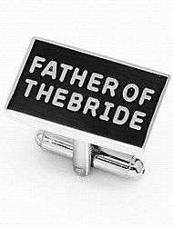 """Gift Groomsman """"Father Of The Bride"""" Cufflinks"""