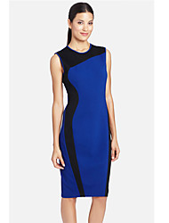 Women's Blue Dress , Party Sleeveless