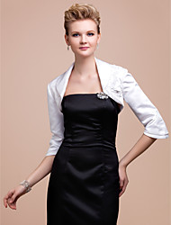 Party/Evening Satin Coats/Jackets Half-Sleeve Wedding  Wraps
