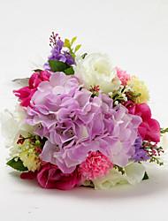 Forme Ronde Satin Multicolor Flower Bouquet de mariée