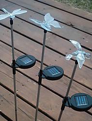Mariposa Dragonfly Bird en forma de Solar Powered Cambio de color de Garden Light (estilo al azar)