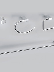 Moderno stile Chrome Wall finitura in lega di zinco montato set di accessori da bagno
