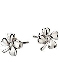 Femmes Simple Douce Fleur 925 Pure Silver Studs