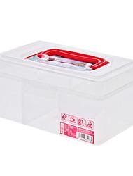 Прозрачный медицины 19.5x12x9cm Дело Ящик для хранения