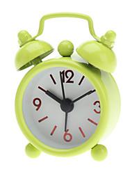 2 «круглых колокола близнеца MINI Analog будильника (1xbutton батареи, разных цветов)