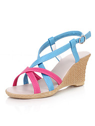 Fabulous Leatherette Wedge Heel Sandals With Buckle Party / Evening Shoes (More Colors)