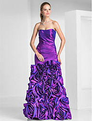 Trumpet/Mermaid Sweetheart Floor-length Taffeta Evening/Prom Dresses