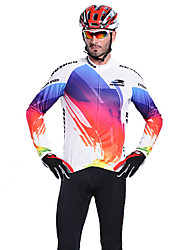 RUSOO CoolDry Men material transpirable de manga larga ciclismo Jersey RS-C008