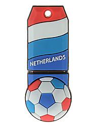 Nederland-Ball vormige plastic USB Stick 32G