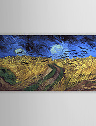Famous Oil Painting Wheatfield-with-crows by Van Gogh