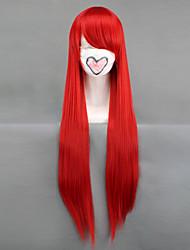 fairy tail-erza scharlaken rode hittebestendige vezels cosplay pruik