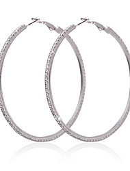 Elegant Alloy With Rhinestone Women's Hoop Earrings
