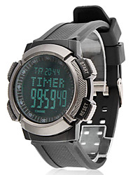 Men's Air Pressure LCD Digital Rubber Band Wrist Watch (Black)
