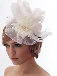 Schöne Silk Screen mit Nachahmungen von Perlen Hochzeit / Braut Kopfschmuck Blume