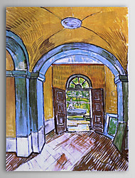Famous Oil Painting the-entrance-hall-of-saint-paul-hospital by Van Gogh