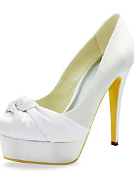 Gorgeous Satin Stiletto Heel Pumps With Ruffles Wedding Shoes (More Colors)
