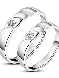 Unieke 925 Sterling Zilveren Cubic Zirconia Stellen Ringen