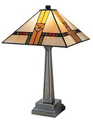 60W Minimalism Tiffany Glass Light with Resin Stand