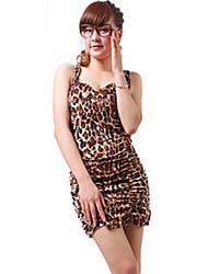 ZHI YUAN Sleeveless Print Gather Slim Dress(More Colors)