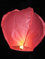 Coeur-forme Sky Voler Souhaitant Lumière Lanterne Kongming (7-Couleur / Pack)