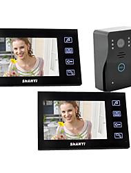 """7 """"Téléphone filaire porte vidéo avec enregistrement SD Picture Card (1 à 2 Caméra Moniteur)"""
