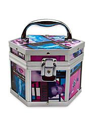 En alliage d'aluminium verrouillable Cosmetic Box Avec Owen maquillage graphique Case 17.5 * 15.5 * 13cm