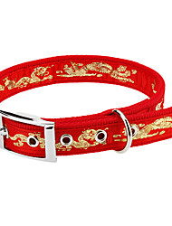 Hunde Halsbänder Gold / Silber Nylon