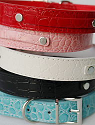 Cães Colarinho Estampas de Couro de Crocodilo Vermelho / Preto / Branco / Azul / Rosa Pele PU