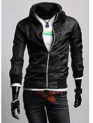 Men's Long Sleeve Casual Jacket Solid Black