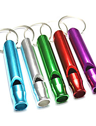 Alumnium Alloy Outdoor Survival Whistle(Random Color)