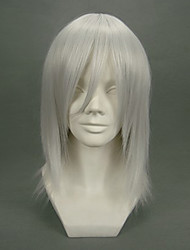Cosplay Wigs Final Fantasy Kadaj White Short Anime/ Video Games Cosplay Wigs 40 CM Heat Resistant Fiber Male